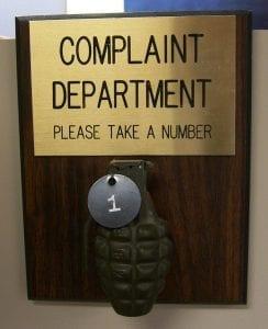 Customers complaints