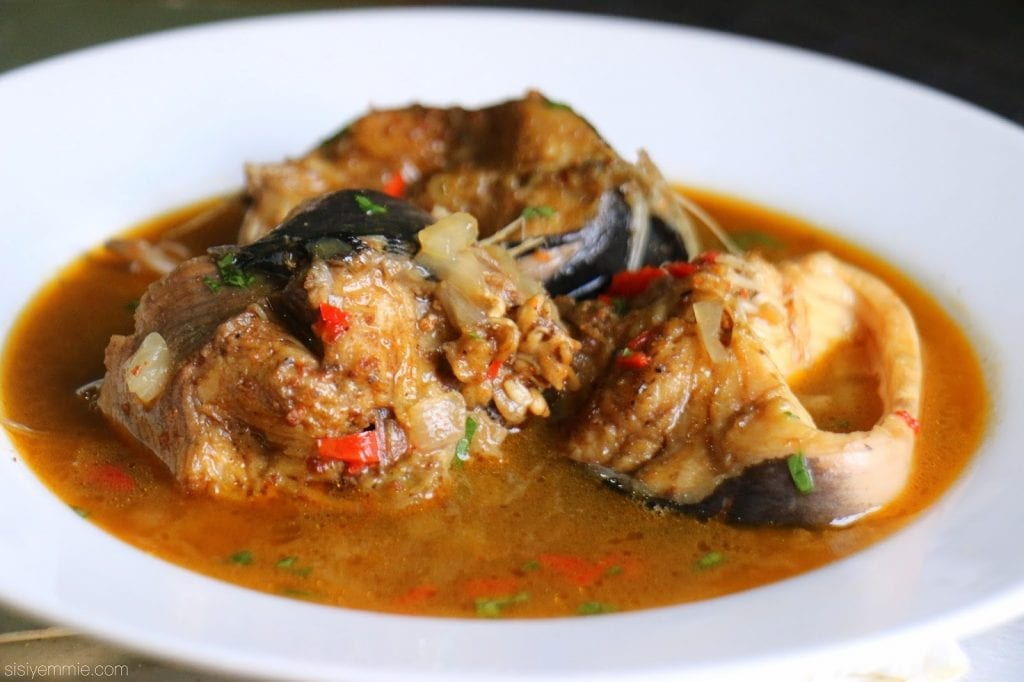Nigerian Catfish pepper soup