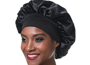 How to make a DIY satin bonnet with an elastic band