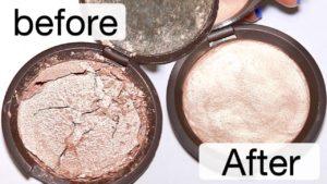 How to fix broken makeup powders and bronzers